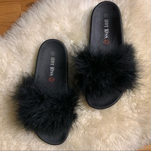 Hot Kiss Fuzzy Slide Sandals